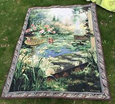 Lily Garden 56 X80 Wall Hanging Tapestry Backdrop Artist Vail Oxley (no Rod) USA