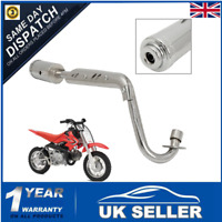 Chrome Exhaust Pipe System Muffler 4 Stroke For CFR50 Pit Bike 50cc 110cc  ^ =