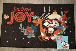 Disney Mickey Minnie Mouse Holiday  Christmas Rug Floor Door Mat Decor Disney