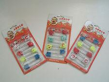 Vintage diaper safety  pins   4 animal design NOS lot of three packs adult craft