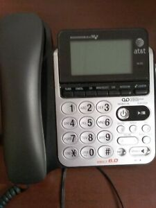 AT&T Dect 6.0 Telephone Corded Expandable Speaker Caller ID Answering Machine