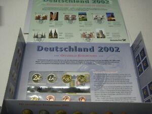5 x 3,88 Euro KMS 2002 Prägestätten A D F G J PP mit 164,40 Euro Briefmarken