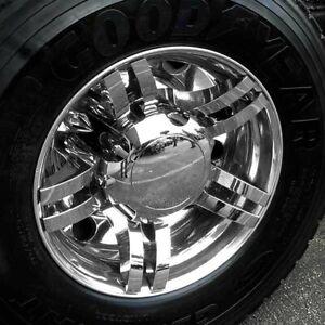 "Spyder 225 Chrome Fits most 10 Lug 22.5"" Steel Aluminum Rear Wheels Semi RV"