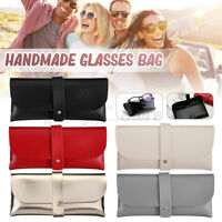 Soft PU Leather Glasses Storage Bag Case Carrying Eyeglasses Sunglasses Pouch