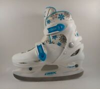 Girls DBX Blitz Ice Skates - Adjustable Size 1 2 3 4 Girls Figure Hockey Skating