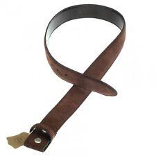 cinturón para hebilla, Marrón oscuro, Piel de ante, Talla M