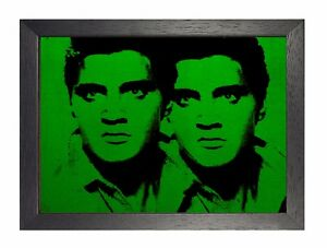 Andy Warhol - Elvis Green Artistic Expression Celebrity Culture Poster Art Photo