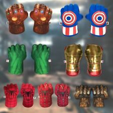 Hulk Spider-Man Plush Hands Boxing Fist Glove Cosplay Props Kids Toys Gift