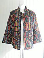 Mela London Jacket Rainbow Aztec Tribal Blogger Trend Festival Boho 12