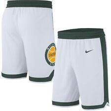 Michigan State Spartans Nike Retro Replica Men Basketball Shorts-White-Size L