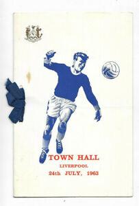 EVERTON FC - 1963 League Champions Celebration Dinner Menu (+ Liverpool FAC S/F)