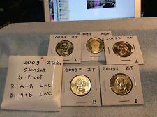 2009 - Zachary Taylor $1 Golden Dollar 5-coin Set (S, P, P, D, D)
