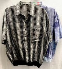 Lot Of Two Alan Stuart Banded Waist Shirts~Lrg~