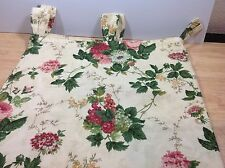 Waverly Roseberry Garden Room Drape Panel Curtain Tab Top Loop Floral 42 x 59