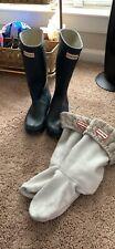 Hunter Classic Tall Rain Boots Big Kids/small women's US 5B/6G/EUR37 Matte Navy