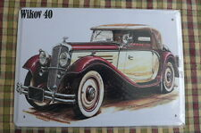 Wikow 40 Old Car Metal Sign Painted Poster Garage Club Home Shop Pub Wall Art *