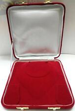 Deluxe XL Large 8 Inch Jewelry Gift Box Plush Red Velvet Necklace Presentation