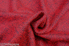 C 166 deluxe tissu lourd vénitien rouge & gris foncé bouillie laine melange made in italy