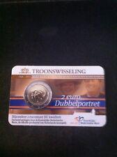 Nederland 2 euro 2013  Dubbelportret in coincard BU