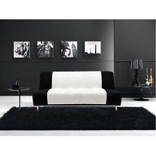 Divano letto sofa' 175x77 3posti bicolore bianco nero antiribaltamento salotto|2