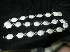 """OLD PAWN NAVAJO STERLING SILVER 20 CONCHO BELT SIGNED RA 150g 42"""""""