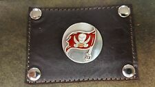 Tampa Bay Buccaneers 3 Piece Leather Luggage Set- Duffle, Messenger & Travel Kit
