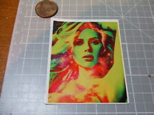 RETRO GIRL SPARKLE COLORS   STICKER/ DECAL NEW ACTUAL PATTERN