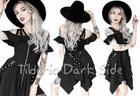 RESTYLE Pentagram Zipper Floaty Straps Black Pinstripe Nu Goth Peaks Skirt Dress