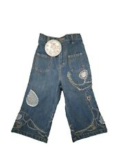 New With Tag Oilily Girls Embroidered Denim Jeans 92 98 104 110 122 134 2T 4T 7Y