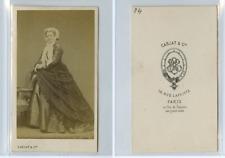 Carjat, Madame de Belleval CDV vintage albumen carte de visite,  Tirage albumi