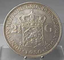 Niederlande, 2 1/2 Gulden 1930, Wilhelmina, Silber