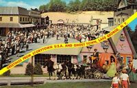 NY Lake George STORYTOWN USA Amusement Park ponies pull Cinderella  postcard AM1
