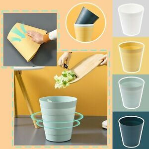 Plastic 6L Litters without Lid Bins Waste Dustbin Kitchen Rubbish Can