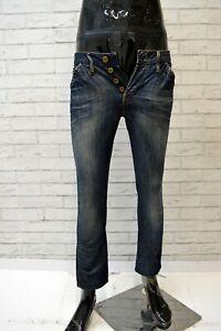 G-STAR Jeans Uomo Denim Taglia 27 Pants Men Pantalone Skinny Slim Fit Chino Blu