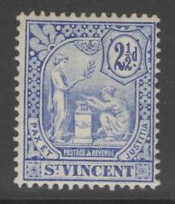 ST.VINCENT SG97 1907 2½d BLUE MTD MINT