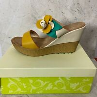 Patrizia by Spring Step Floral Wedge Sandals Womens Size 9