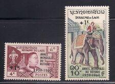 Laos  1960  Sc # B4-5   VLH  OG   (1-501-1)