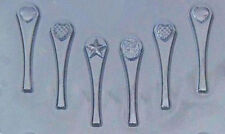 Heart Valentine Spoon Handles Chocolate Candy Mold from CK #1103 - NEW
