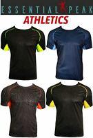 Essential Peak Men's Athletic Sports T-Shirt Wear 100% Polyester Short Sleeve
