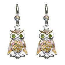 Kirks Folly Baby Owl Leverback Earrings (Silvertone)