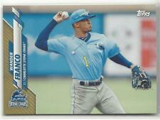 2020 Topps Pro Debut Wander Franco Gold Base Parallel PD-1 #/50 Stone Crabs Rays