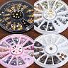 3D Glitter Nail Art Rhinestones Gems Acrylic Manicure Tips DIY Decoration Wheel#