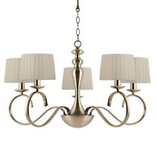 Rosalind Wheeler Dominey 5-Light Drum Chandelier, Antique Gold finish