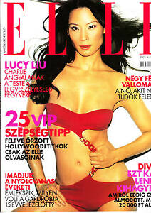LUCY    LIU    clipping   from  Hungarian magazines