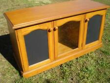 Low line Pine timber 3 door entertainment unit  great for large tv etc