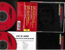 GEORGE HARRISON & ERIC CLAPTON Live In Japan JAPAN CD WPCP-4901~2 w/OBI+INSERT