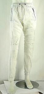 Pantaloni Uomo Stile Sport ENERGIE B755 Gamba Dritta Bianco Tg 33