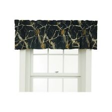 REALTREE AP Black Camo Window Valance Curtain - 88x18 Wildlife Camouflage Cabin