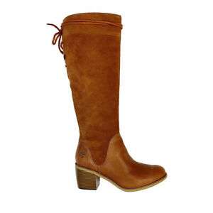 Timberland Women's Tall Slouch Leather Knee High Boots A1U9Q