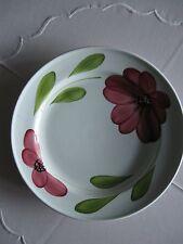 Teller mit rotem Blumendekor von Primula, 25 cm Durchmesser